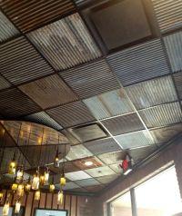 corrugated metal drop ceiling tiles | Bohemian home ...