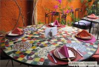 MexicanTiles.com - Table Top Mosaic Work with Broken ...