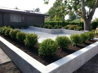 Concrete patio and planters | Sublime Garden Design ...