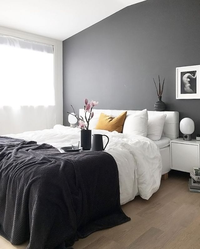 25+ best ideas about Dark gray bedroom on Pinterest