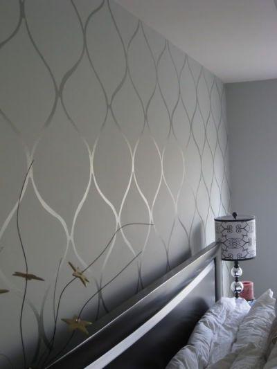 Wall stencil high gloss paint on matte base. Want. | For Japan | Pinterest | High Gloss Paint ...