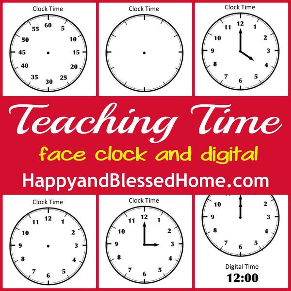 printable clock face with movable hands
