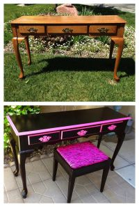 Vintage, shabby, refinished, painted, before and after ...