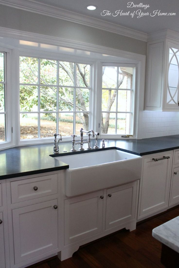 deep kitchen sinks kitchen sink sizes DWELLINGS The Heart of Your Home Kitchen Tour Our NEW Farmhouse Style Kitchen