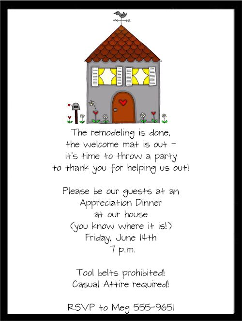 New Remodel Housewarming Party Invitations Photo Card