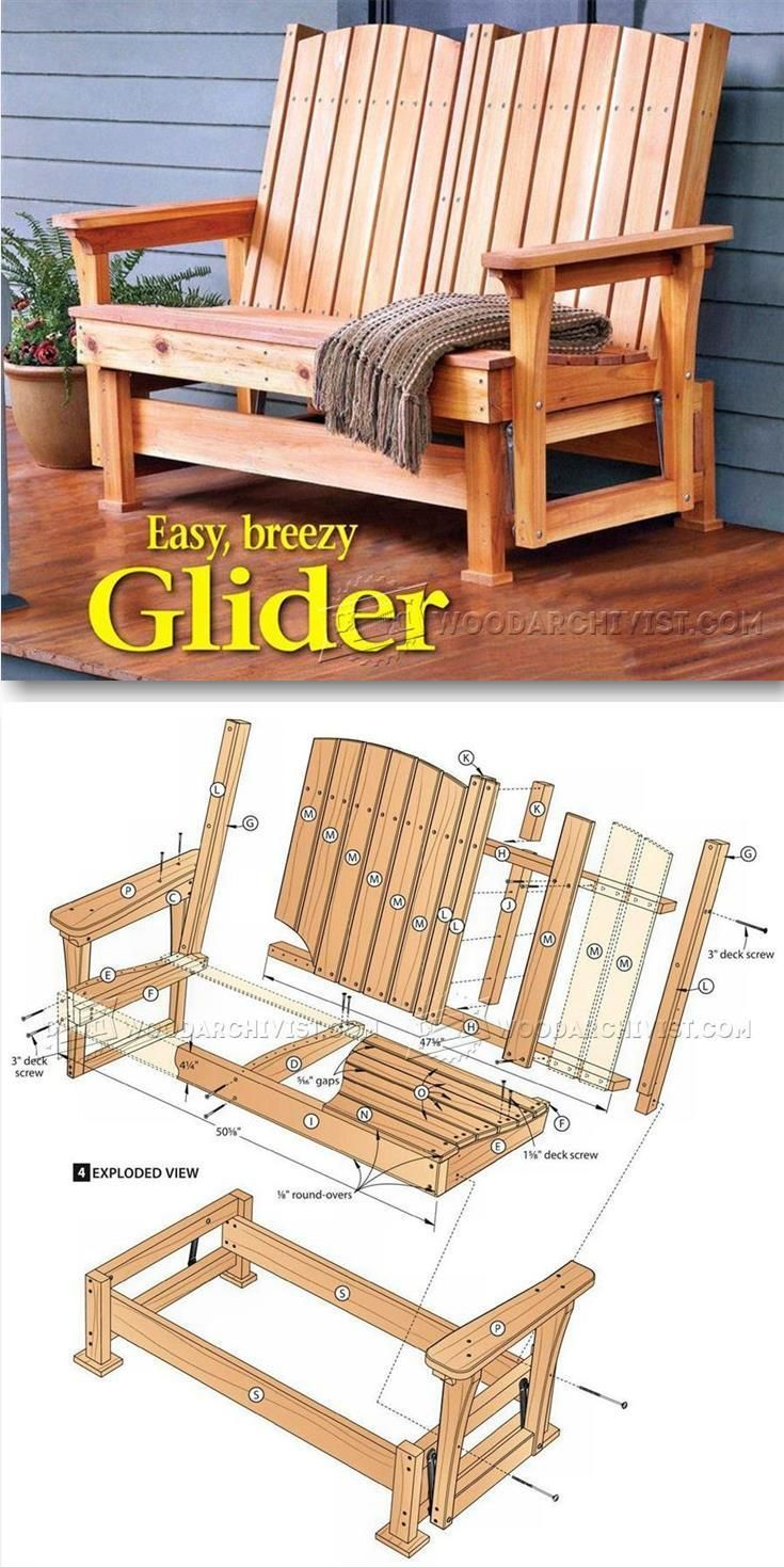 Glider bench plans outdoor furniture plans projects woodarchivist com