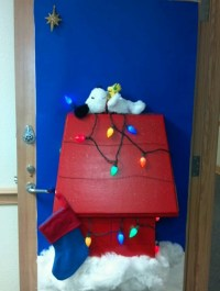 Snoopy's Christmas - my door for decorated door contest at ...