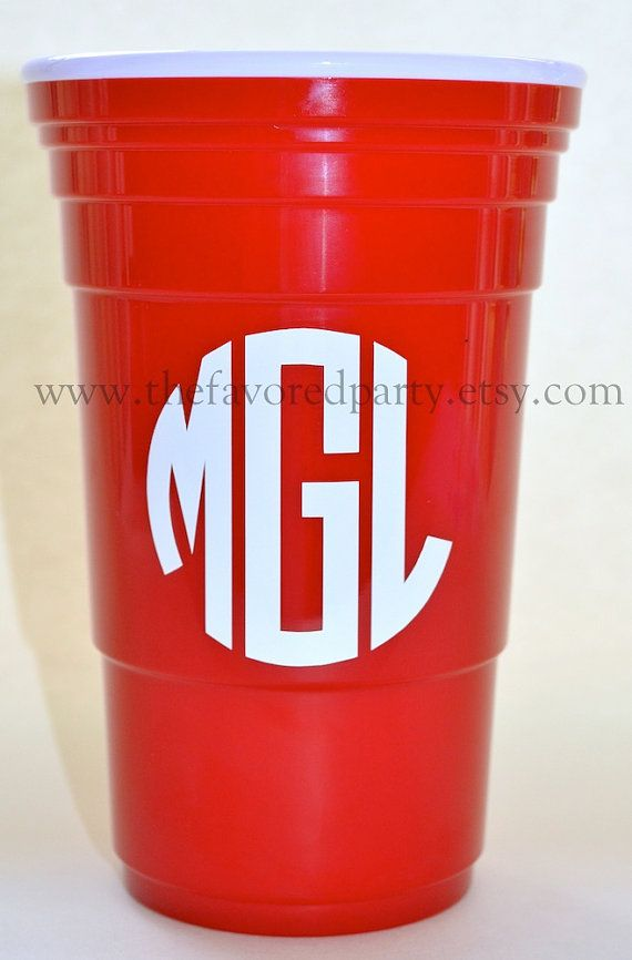 monogrammed insulated cups