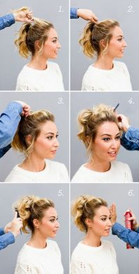 25+ best ideas about Short ponytail hairstyles on ...