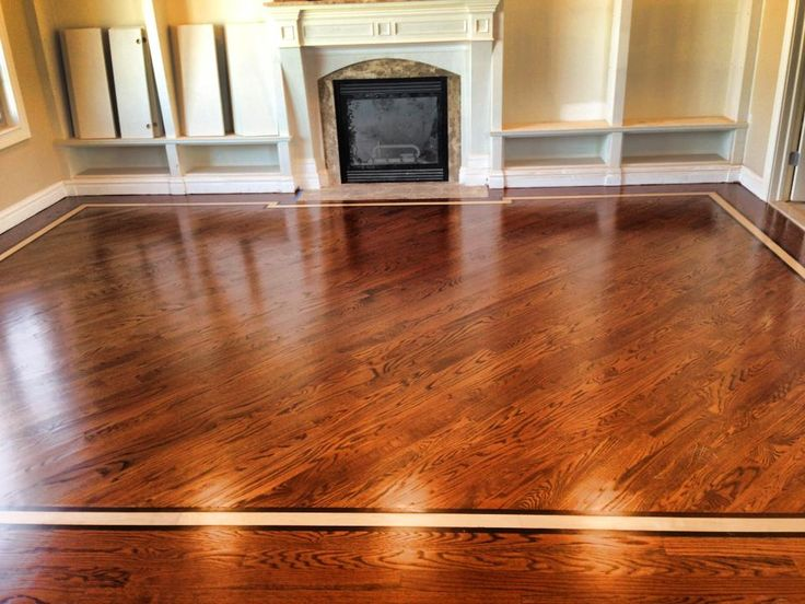Wood Floor In Bathroom Pros And Cons Floor: Red Oak 3 1/4 Stain: English Chestnut. Border