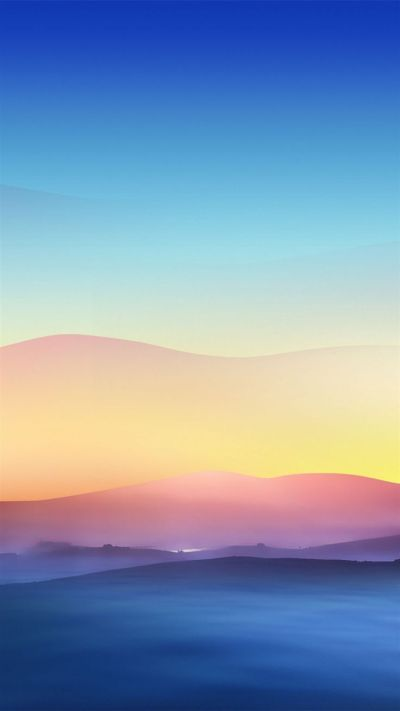Sunrise haze Mountain. Calm your mood with these 10 Peaceful Evening Scenery iPhone Wallpapers ...