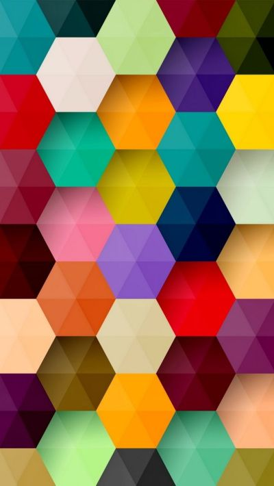 Colorful Hexagons iPhone Wallpaper | My iPhone | Pinterest | Computers, Hexagons and Hexagon pattern