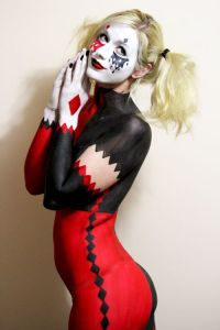 Harley Quinn Body Paint