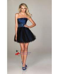 Short Navy Blue Prom Dresses ,Short Navy Blue Strapless ...