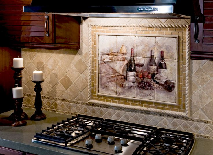 Tuscan Backsplash The French Delight Wine Mural Is A Classic Addition To Any