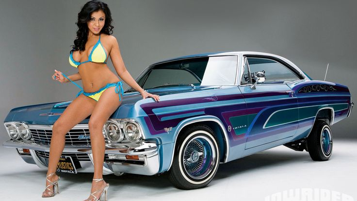 Classic Car Wallpaper Murals Lowrider Girls Home Gt Galleries Gt Car With Girl 1080p