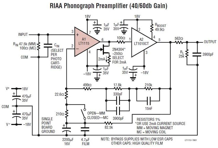 tube line preamplifier project