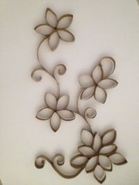 Toilet Paper Roll Wall Art | Toilets, Flower and The edge