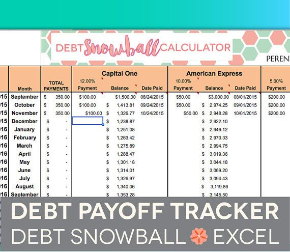 snowball debt excel
