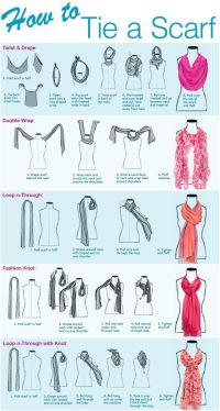 Different ways to tie a scarf | Fashionable Fresh ...