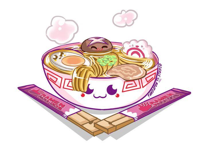 Cute Noodles Japanese Wallpaper Kawaii Ramen By Kamapon Deviantart Com On Deviantart