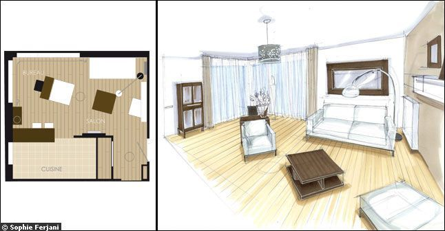 1000 Images About Plan Deco On Pinterest Night Stand - Petit Espace Salon