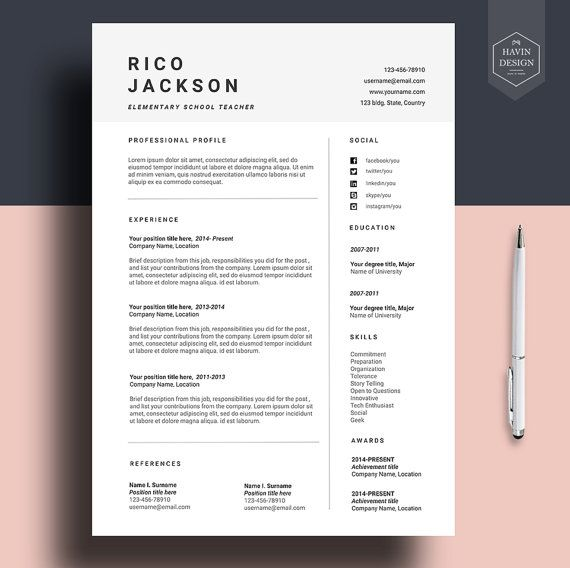 How To Write The Perfect Resume For Any Job Ziprecruiter Best 25 Cv Template Ideas On Pinterest