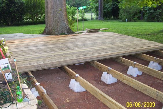 Floating Deck Plans Supports Sold At Lowes And Home Depot