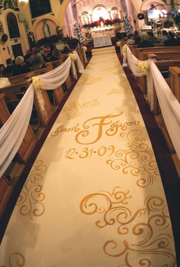 monogrammed aisle runners for weddings