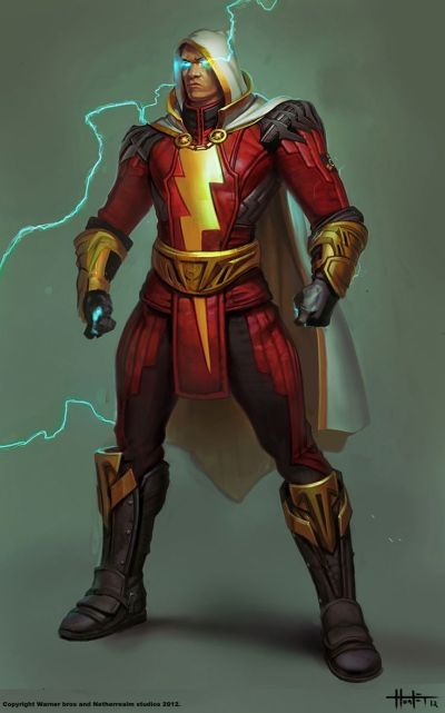 Concept art of Shazam from Injustice: Gods Among Us by Hunter Schulz | Injustice: Gods Among Us ...