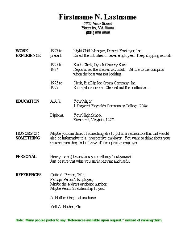 free functional resume samples resume format 2017 a free - formatting resume in word