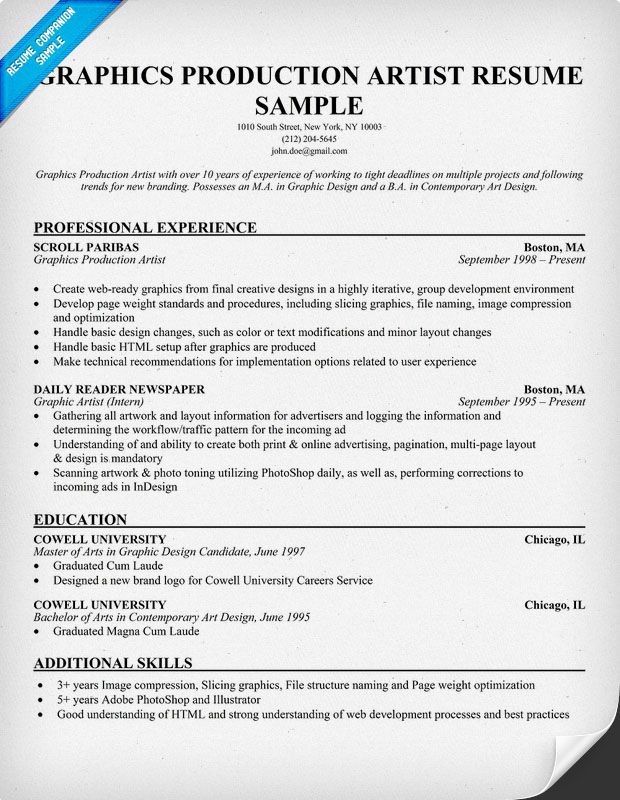 motion graphics resume example