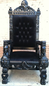 Jelly cupboard | Black king, Gothic house and King chair