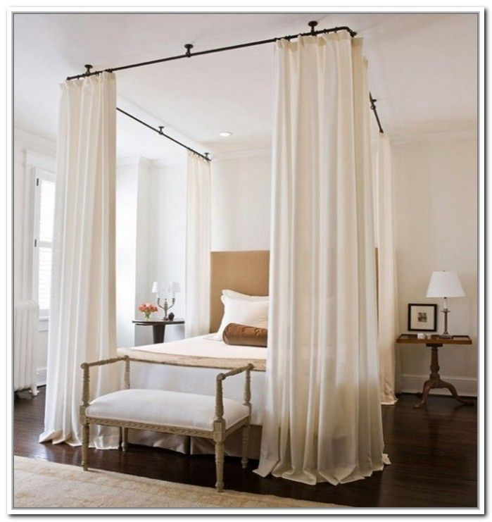17 Best ideas about Curtain Rod Canopy on Pinterest