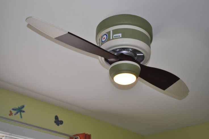 Vintage Airplane Bomber Kid's Ceiling Fan