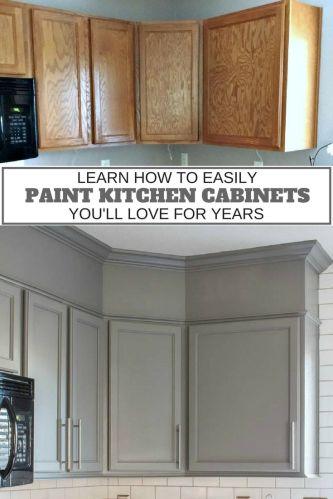 updating kitchen cabinets repaint kitchen cabinets How to Easily Paint Kitchen Cabinets You Will Love