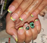 1000+ ideas about Summer French Nails on Pinterest   Nail ...