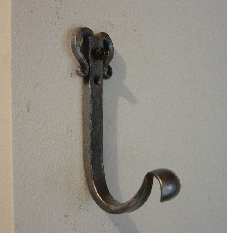 Wall Hook Hand Forged My Products Pinterest Hooks
