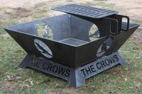 Fire pit made out of 1/4 inch steel. Custom artwork and ...