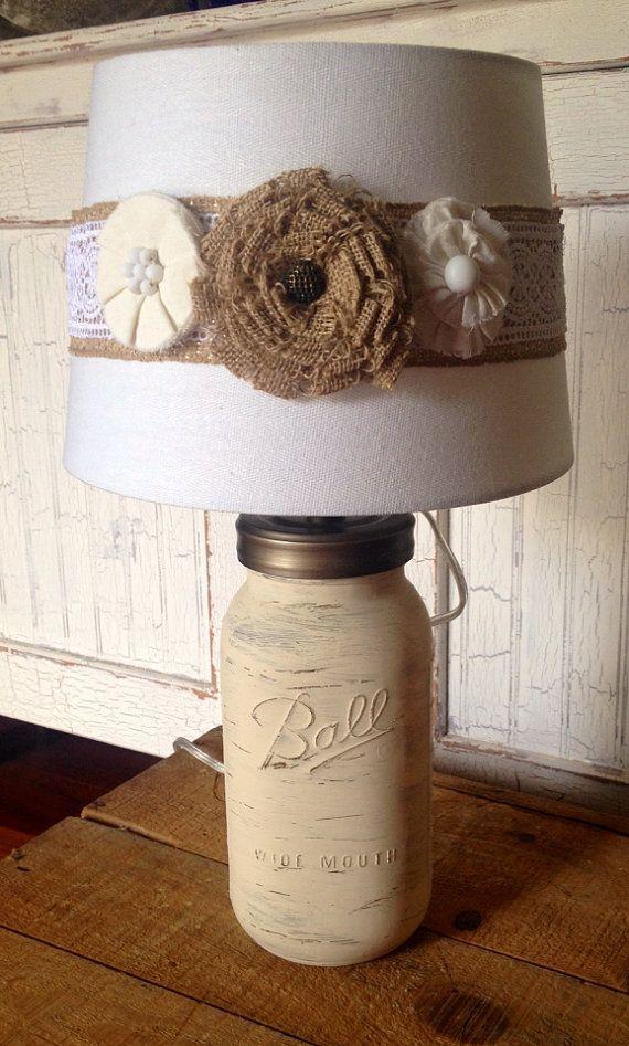 25+ best ideas about Burlap lamp shades on Pinterest