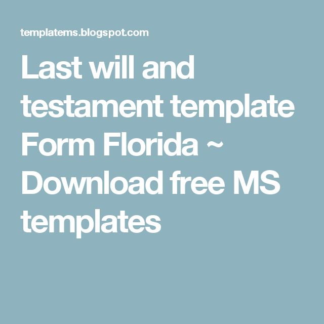 last will and testament template florida - 28 images - best photos - last will and testament form