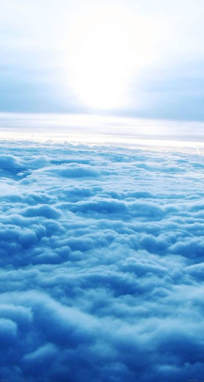 #Blue #clouds - The iPhone iOS7 Retina #Wallpaper I like! | iOS 7 Wallpapers | Pinterest | 7 ...