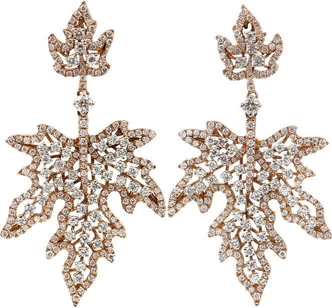 INBAR Diamond Maple Leaf Earrings