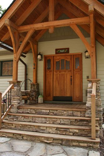 I Want A Wooden Deck With Stone Steps And I Absolutely