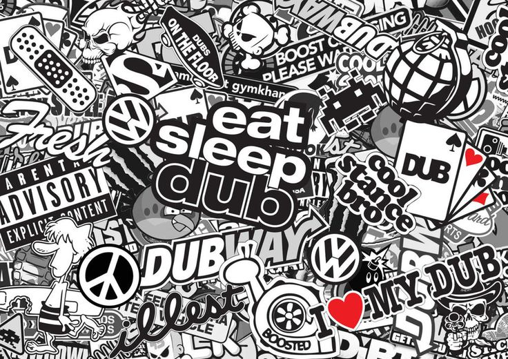 Wrap Folie Interieur Details About X2 Black & White Vdub Sticker Bomb Sheets A4