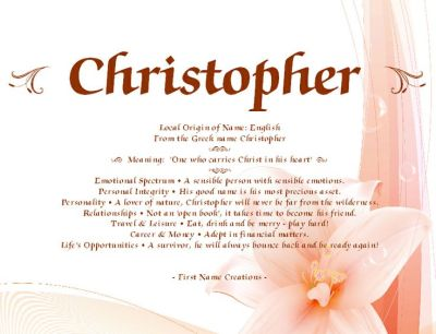 Christopher Name Meaning - First Name Creations | Names | Pinterest | Heart, Christ and The o'jays