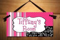 Posh Girl Teen DOOR SIGN Kids Bedroom, Playroom Wall Art ...