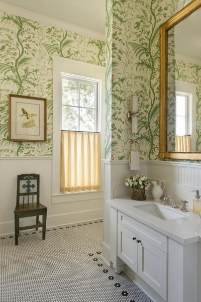 17 Best ideas about Bathroom Wallpaper on Pinterest | Bath powder, Powder room wallpaper and ...