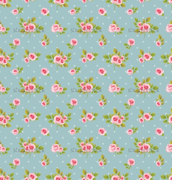 Wallpaper Cath Kidston Iphone Shabby Chic Roses Background Of Seamless Vector