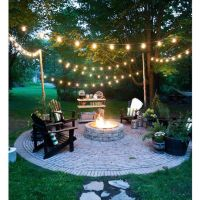 25+ best ideas about Backyard string lights on Pinterest